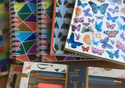 Dream journals and pens
